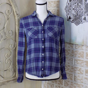 Aeropostal Super Soft Plaid Flannel button down